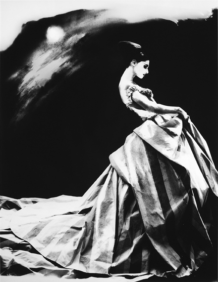 Lillian Bassman, 'Night Bloom, Annelise Seubert, Ball Gown by John Galliano for Haute Couture Givenchy, Paris, The New York Times Magazine', 1996, Photography, Gelatin Silver Print, Staley-Wise Gallery