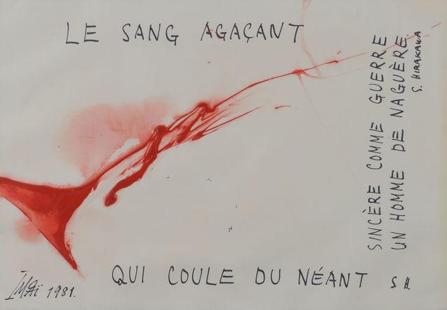 , 'LE SANG AGACANT,' 1981, Maekawa + Takemura