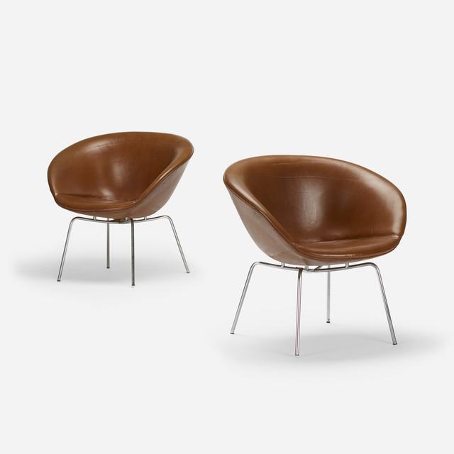 Fritz Hansen Inc., 'Pot chairs, pair', 1959, Wright
