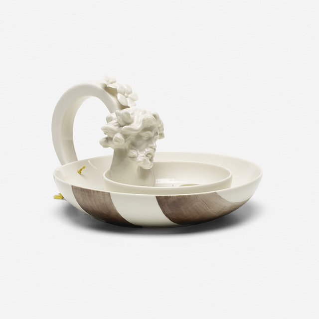Nymphenburg Porcelain Manufactory, 'Winter candleholder', 2007, Design/Decorative Art, Hand-painted porcelain, silk string, Rago/Wright