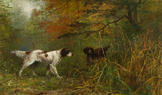, 'Landscape with English Setters,' , Questroyal Fine Art