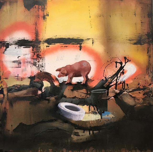 , 'Pig With Target ,' , Joerg Heitsch Gallery