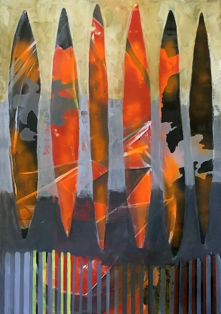 , 'Double Slit Projection,' 2017, John Davis Gallery