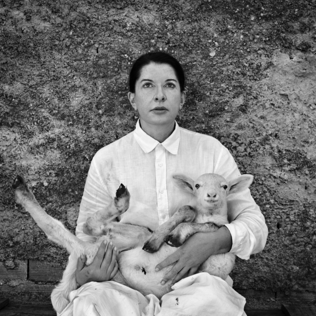 , 'Portrait with Lamb (white),' 2010, Wilde