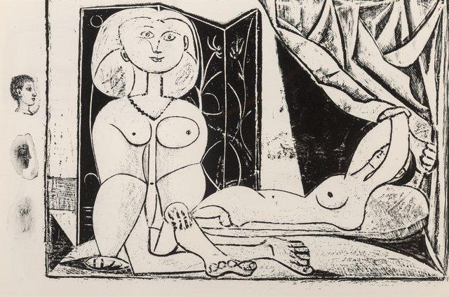 Pablo Picasso, 'Les deux femmes nues', 1945, Print, Lithograph on paper, Heritage Auctions
