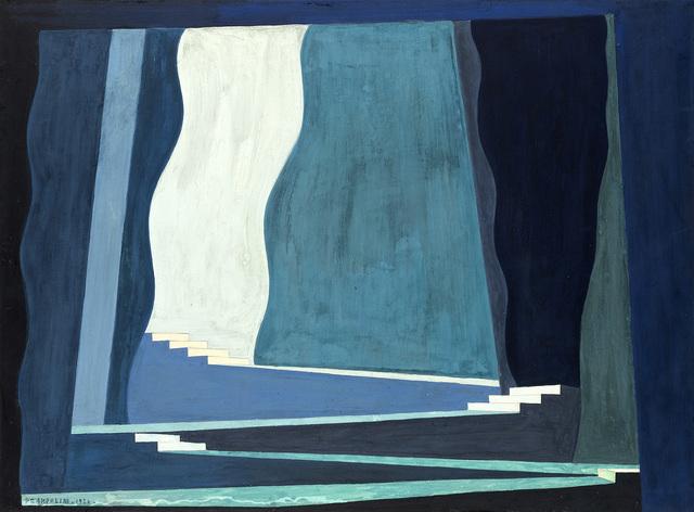 Enrico Prampolini, 'Bozzetto di scena teatrale per il balletto 'Claire de Lune', 1926, Painting, Gouache on paper laid down on cardboard, Il Ponte
