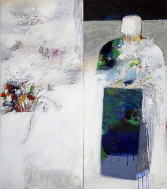 Salman Al Malik, 'A man in white space / رجل في فضاء ابيض', 2018, al markhiya gallery