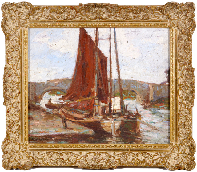 Ken Moroney, 'Sailboats', Painting, Oil on canvas-board, Chiswick Auctions