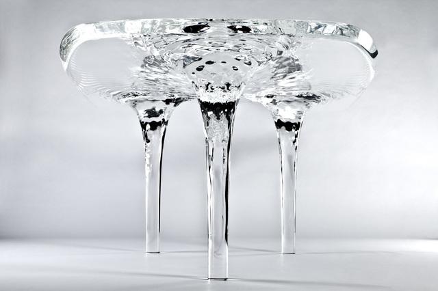 Zaha Hadid, 'Dining Table 'Liquid Glacial'', 2012, Design/Decorative Art, Acrylic, David Gill Gallery