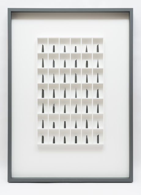 Paul Fry, '42 pieces of graphite (the edge of silence)', 2019, bo.lee gallery