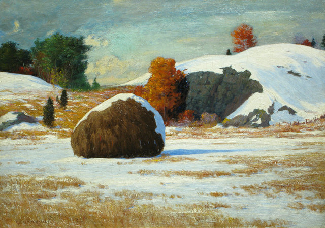 George Wainwright Harvey, 'Early Snow, Rowley Marshes, Massachusetts', ca. 1912, Vose Galleries