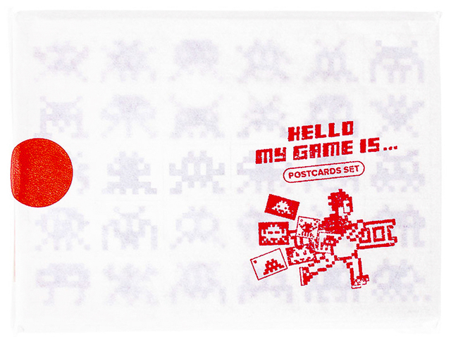 Invader, 'HELLO MY GAME IS POSTCARD SET', 2017, Silverback Gallery