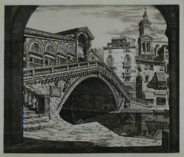 John Taylor Arms, 'Rialto Bridge, Venice', 1930, Private Collection, NY