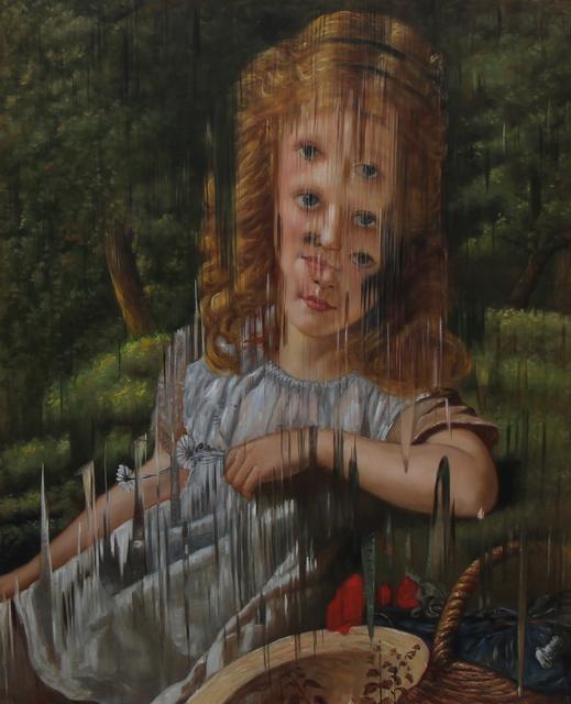 """, 'Ejercicio de distorsión sobre """"The Initials and Summer flowers"""" de Sophie Anderson,' 2018, MAIA Contemporary"""