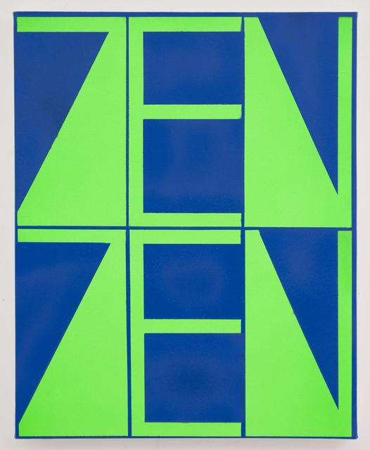 , 'Blue-Green ZenZen,' 2018, Xippas