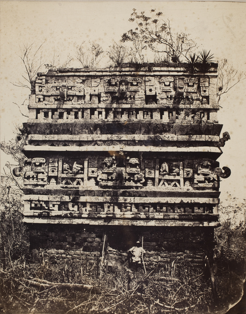 , 'Palais des Nonnes, à Chichen‑Itza; Façade de l'Aile Gauche (Palace of the Nuns, Chichén-Itzá; Façade of the Left Wing),' 1860, George Eastman Museum