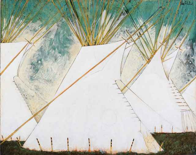 , 'Crow TiPis On The Big Horn,' , Sorrel Sky Gallery