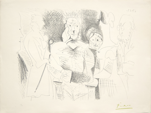 Pablo Picasso, 'Portrait de Famille, Six Personnages', 1962, Print, Lithograph on wove paper, Heather James Fine Art Gallery Auction