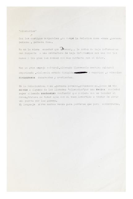 , 'Alienación,' 1986-1993, Henrique Faria | Buenos Aires