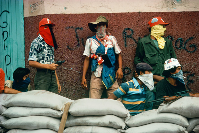 , 'Muchachos await the counterattack by the National Guard. Nicaragua.,' 1978, Magnum Photos