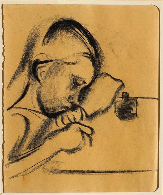 , 'Schreibendes Mädchen (Girl writing),' 1912, Galerie Herold