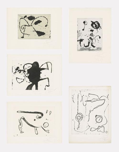 Joan Miró, 'Ocells de Montroig I-V', 1979, Christie's