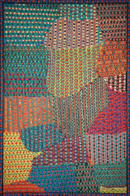 , 'Yellow bamboo screen,' 1986, Pacita Abad Art Estate