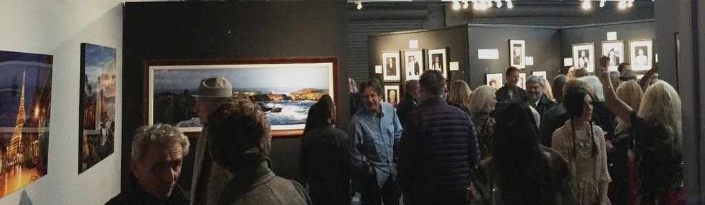 Opening reception, shot from back gallery