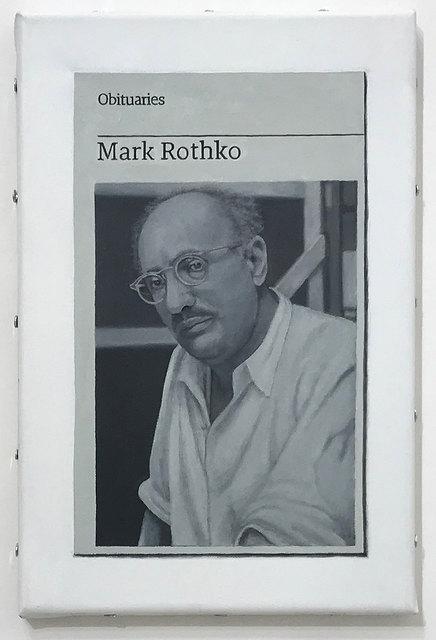 Hugh Mendes, 'Obituary: Mark Rothko', 2018, Robert Fontaine Gallery