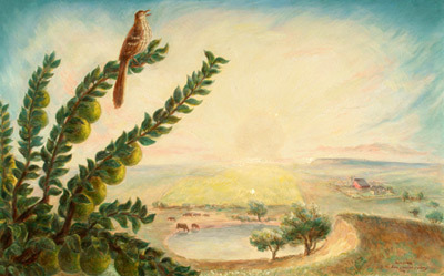 , 'Morning (Brown Thrush on Osage Branch...),' 1936, Kiechel Fine Art