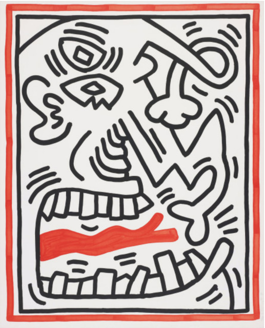 Keith Haring, 'Untitled, from Three Lithographs (Red Tongue)', 1985, DTR Modern Galleries