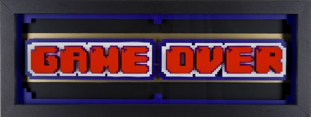 , 'Game Over - Red on White,' 2016, Lawrence Alkin Gallery