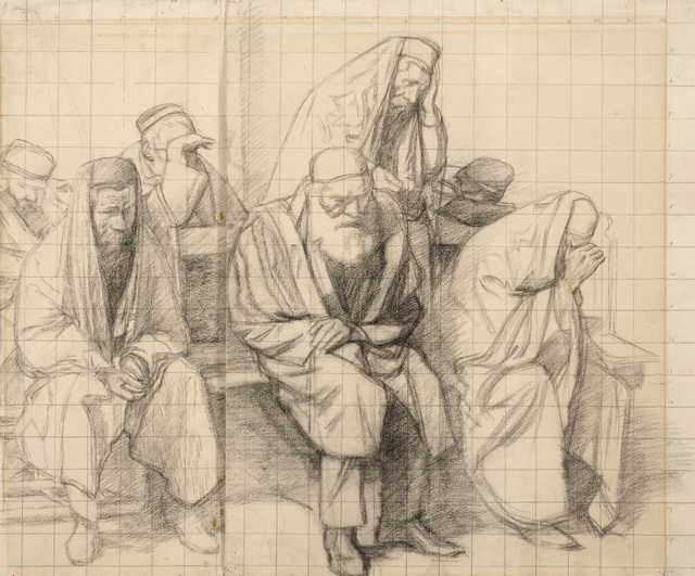 , 'Jews Mourning in a Synagogue,' 1906, Ben Uri Gallery and Museum
