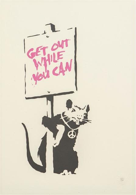 , 'Get Out While You Can (Pink) - Unsigned,' 2004, Hang-Up Gallery