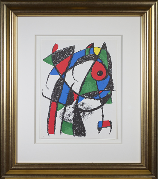 ", 'Original Lithograph I from ""Miro Lithographs II, Maeght Publisher"",' 1975, David Barnett Gallery"