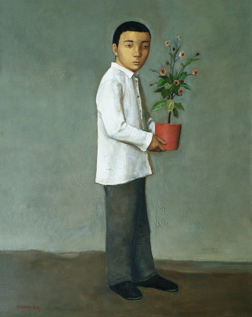 , 'Boy Holding a Flower,' 2009, Hive Center for Contemporary Art