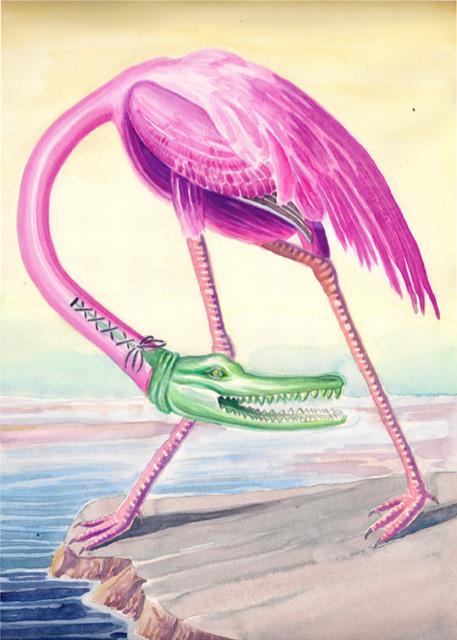 , 'Croco Flamingo,' 2014, MAËLLE GALERIE