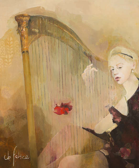 , 'La harpe du moineau rouge,' 2016, Galerie Calderone