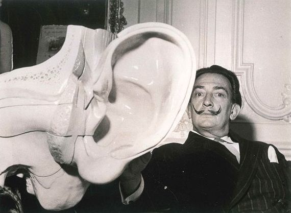 Salvador Dalí, 'The Famous Surrealist Painter and the Replica of the Ear', End of 1960s, Wallector