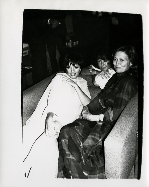 , 'Andy Warhol, Photograph of Liza Minelli, Elizabeth Taylor & Faye Dunaway, 1985,' 1985, Hedges Projects