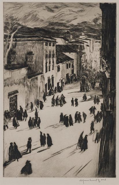 Muirhead Bone, 'A Spanish Good Friday (Ronda) (Dodgson 412)', 1925, Doyle
