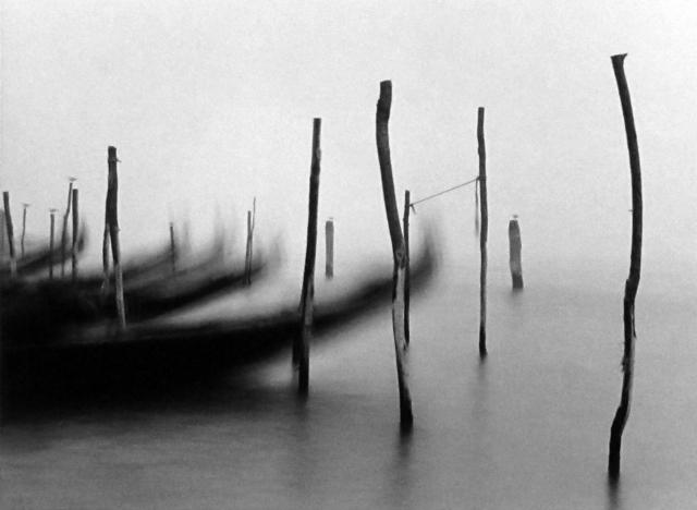 Michael Kenna, 'Gondolas, Venice, Italy.', Photography, Silver Gelatin Print, Weston Gallery