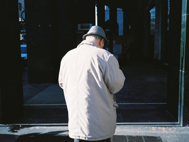 , 'Elderly Man Cracking Chestnuts (Place De L'Opéra),' 2016, HARPY