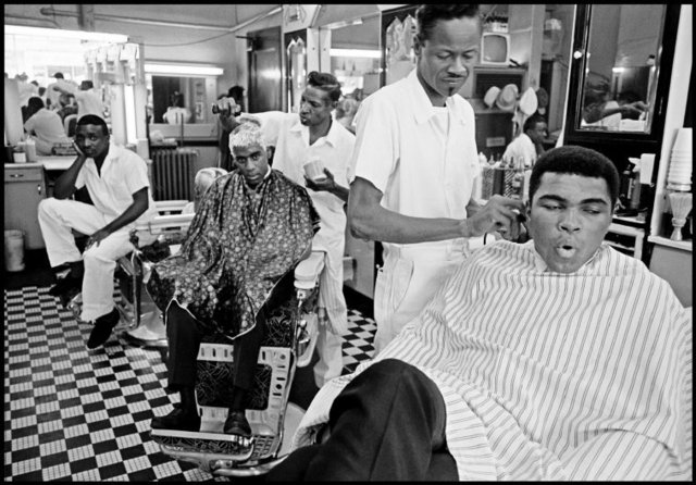 , 'Muhammad Ali in a barber shop, Chicago, Illinois,' 1966, Atlas Gallery
