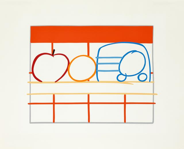 Tom Wesselmann, 'Still Life with Apple, Orange and Radio', 1991, Cristea Roberts Gallery