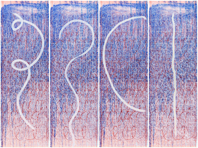 Pat Steir, 'Set of Four Lines', 2015, Pace Prints