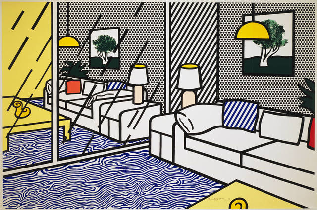 Roy Lichtenstein, 'Wallpaper with Blue Floor Interior', 1992, Gemini G.E.L.