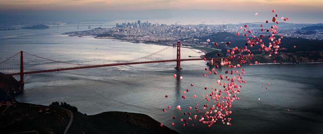 David Drebin, 'Balloons Over San Francisco ', GFA1028, Gefen Fine Art