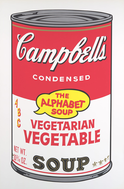 Andy Warhol, 'Vegetarian Vegetable, from Campbell's Soup II', 1969, Print, Screenprint in colors, on smooth wove paper, Provocateur Gallery