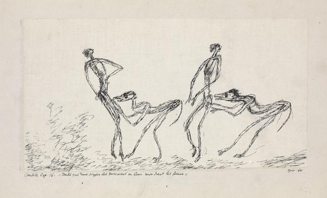 , 'Candide, Chapitre 16: Tandis que Deux Singes les Suivaient en leur Mordant les Fesses,' 1911, Centre Pompidou